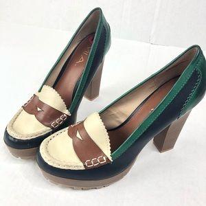 MIA Tri-Color Newberry Loafers - Size 10M